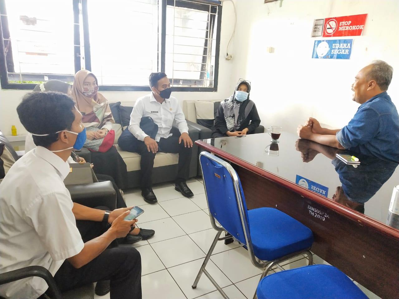 Rabu, 03 Februari 2021 Kunjungan Kerja Dinas Sosial Provinsi Jawa Barat di Kantor DinsosP3A