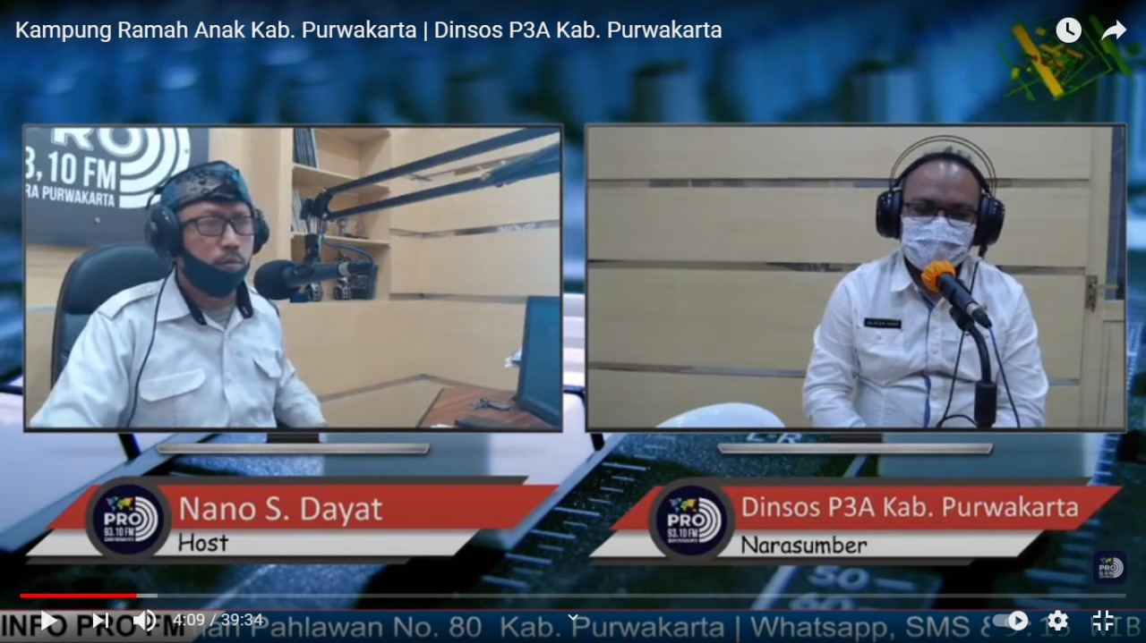 Selasa, 15 Desember 2020 Live Interaktif Talk Show Kampung Ramah Anak di Radio 93.10 FM
