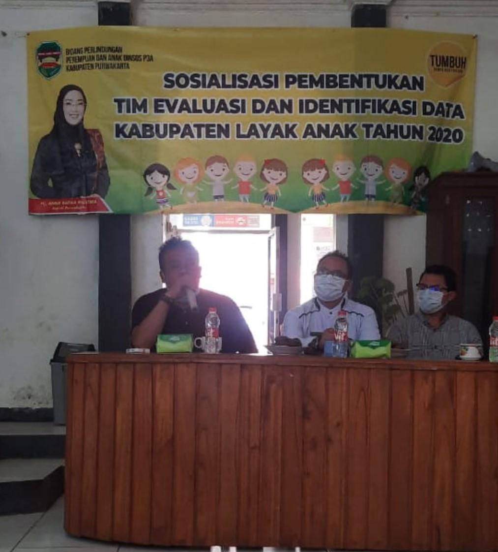 Selasa, 08 Desember 2020 Sosialisasi Pembentukan Tim Evaluasi dan Identifikasi Data Kabupaten Layak Anak Tahun 2020