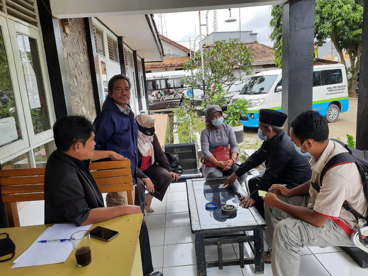 Rabu, 24 Februari 2021 Monitoring dan Evaluasi ke Desa Pasanggrahan Kecamatan Tegalwaru