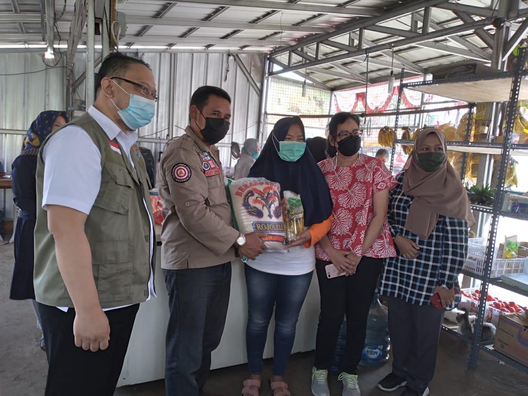 Selasa, 23 Februari 2021 Launching Penyaluran Bantuan Non Tunai Berupa Voucher Belanja Senilai Rp.500.000 di Kec.Cibatu