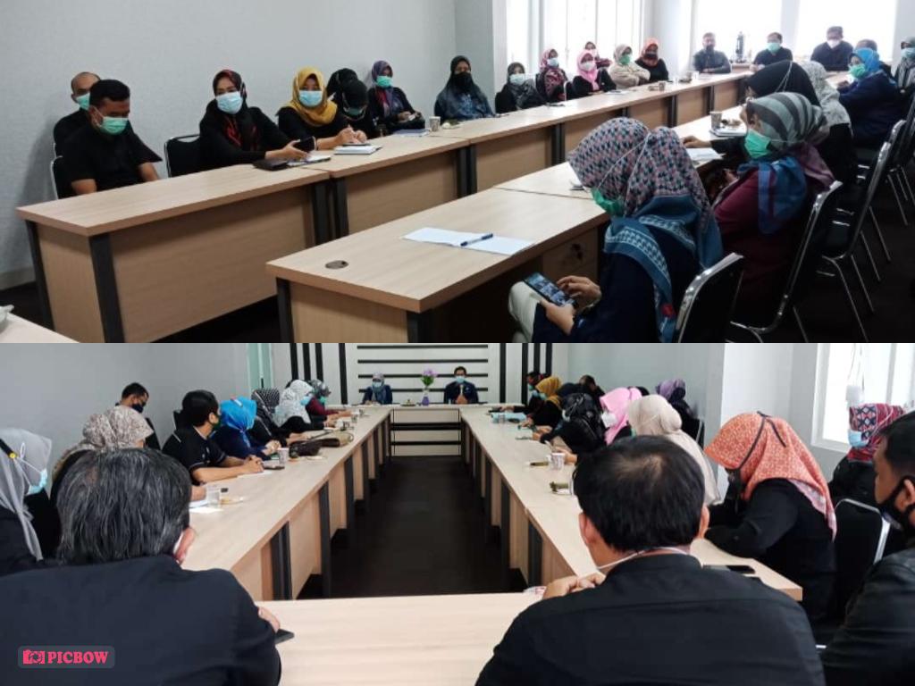 Rabu, 03 Februari 2021 Rapat Koordinasi Pelaksanaan Transaksi Non Tunai (TNT) di Aula BKAD