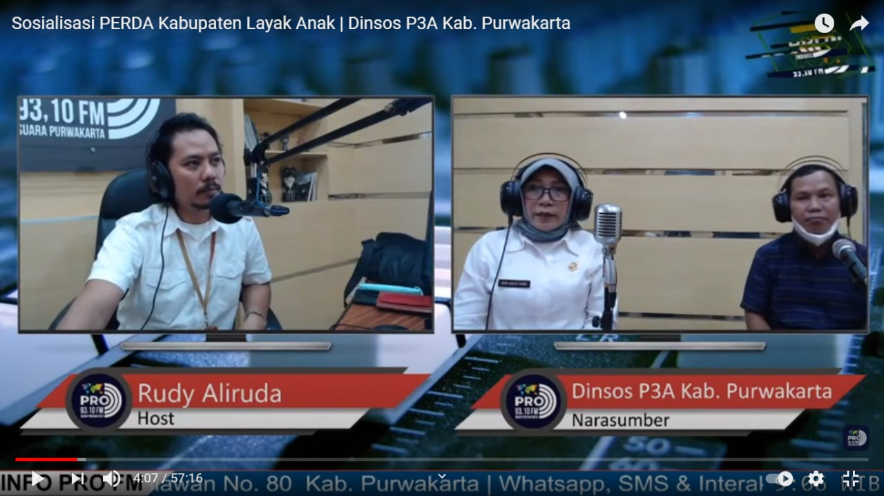 Selasa, 26 Januari 2021 Sosialisasi PERDA Kabupaten Layak Anak (KLA) bersama Ketua Pansus di Radio 93.10 FM
