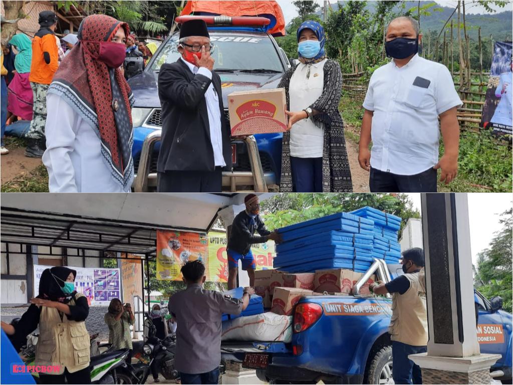 Selasa, 09 Februari 2021 Pemberian Bantuan Sosial Kepada Korban Bencana Alam di Desa Pasanggrahan
