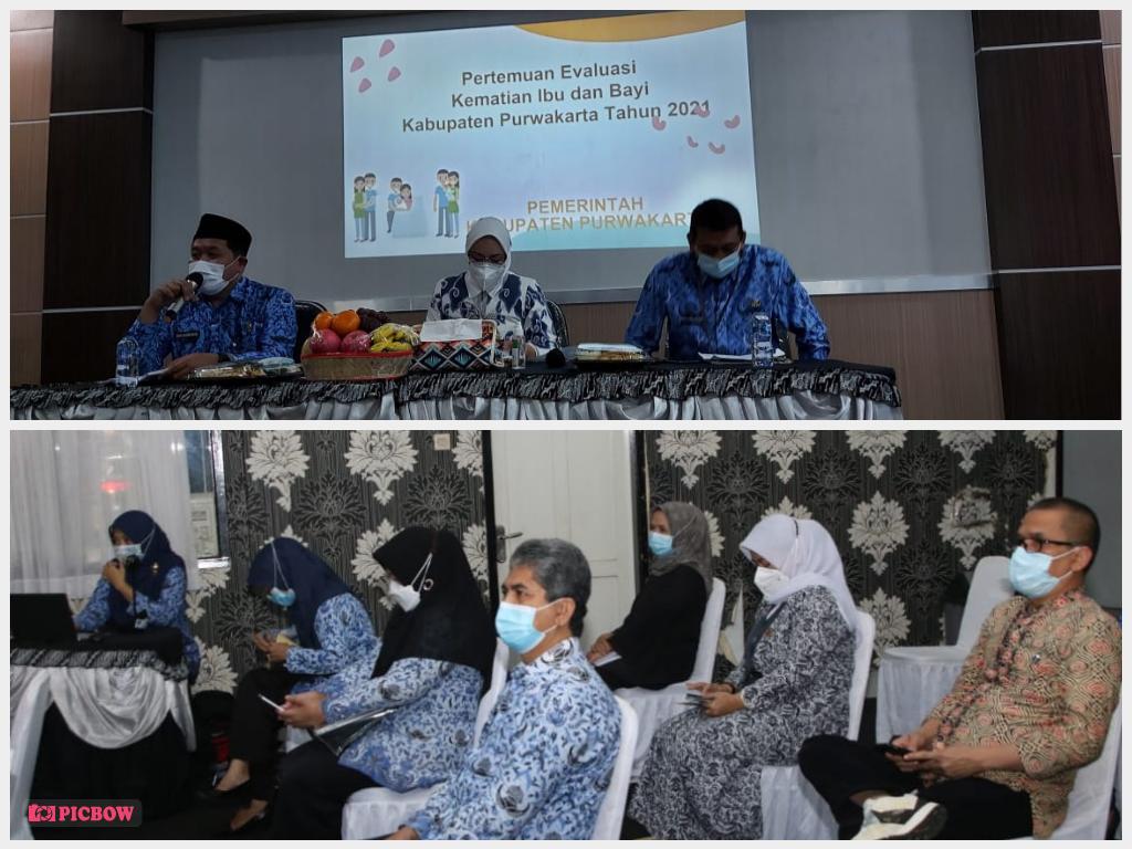 Rabu, 17 Februari 2021 Rapat Evaluasi AKI dan AKB di Ruang Rapat Dinas Kesehatan Kabupaten Purwakarta