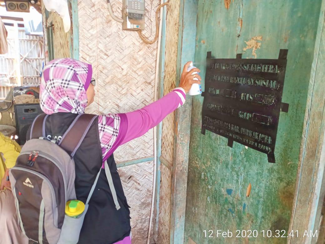 Labelisasi Rumah KPM Kecamatan Bungursari